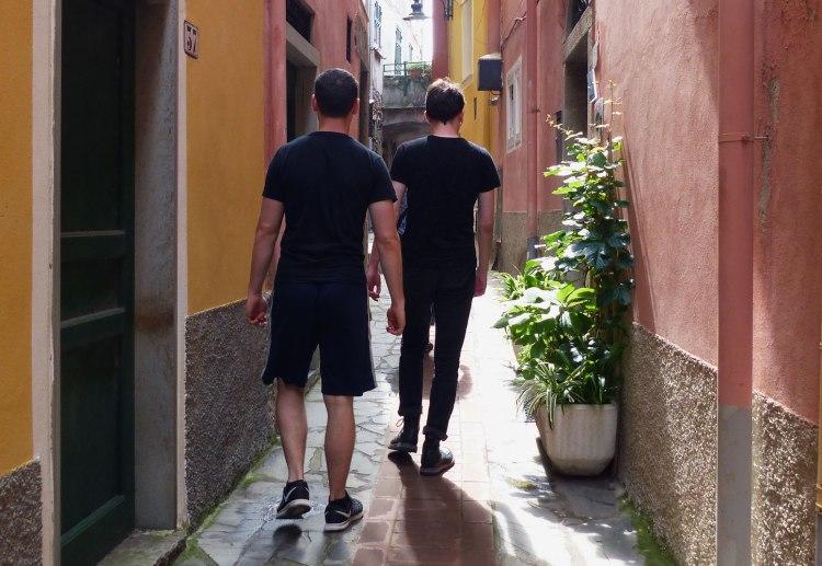 Narrow alleyways in Manarola, Cinque Terre