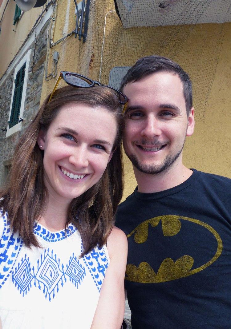 Philip and Alex in Manarola, Cinque Terre