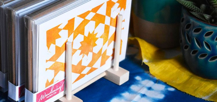 Craft show setup for greeting cards