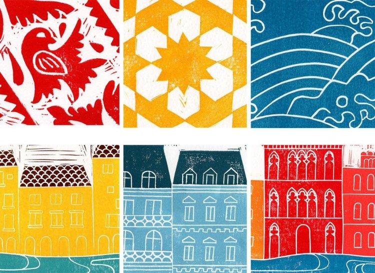 Wandering Paper Co. block prints