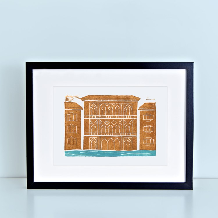 Venice Block Print Brown