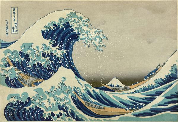 """Great Wave off Kanagawa2"" by Katsushika Hokusai (葛飾北斎)"