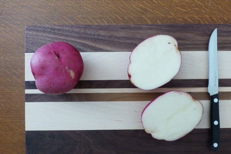 Cut your potato in half