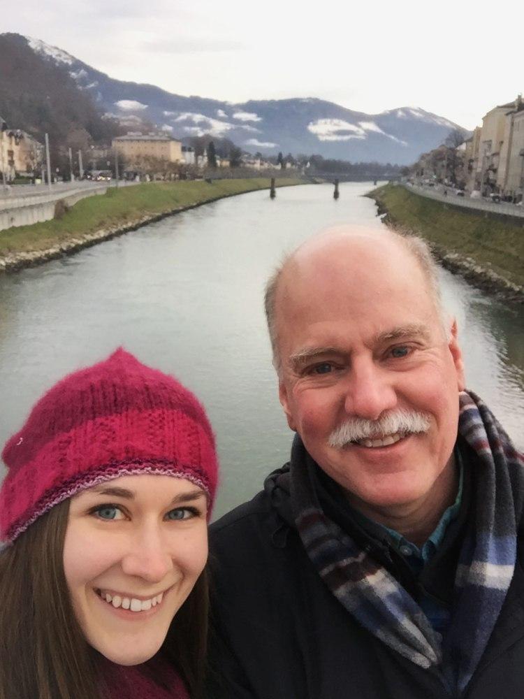 Dad and me exploring Salzburg!