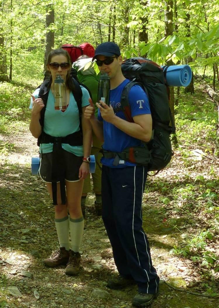 Hiking in Ouachita National Forest, Arkansas