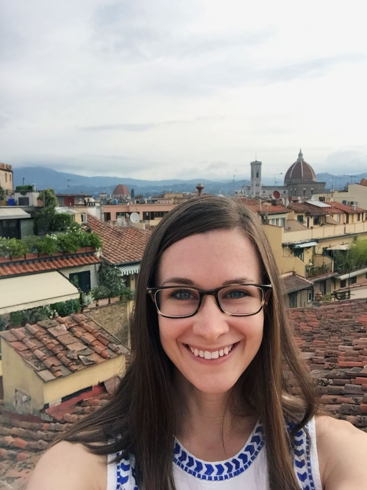 View of Florence from the rooftop