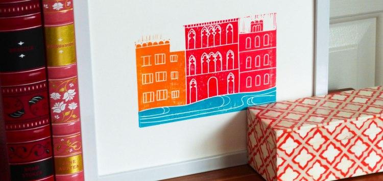 Venice Block Print