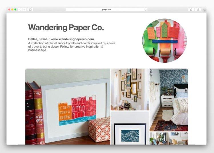 Wandering Paper Co. Pinterest