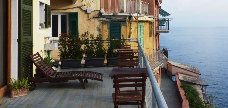 Our balcony at Arpaiu hotel