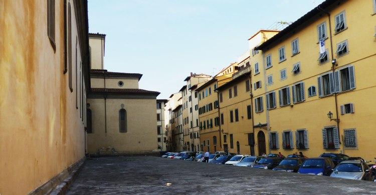 Yellow buildings near Santo Spirito