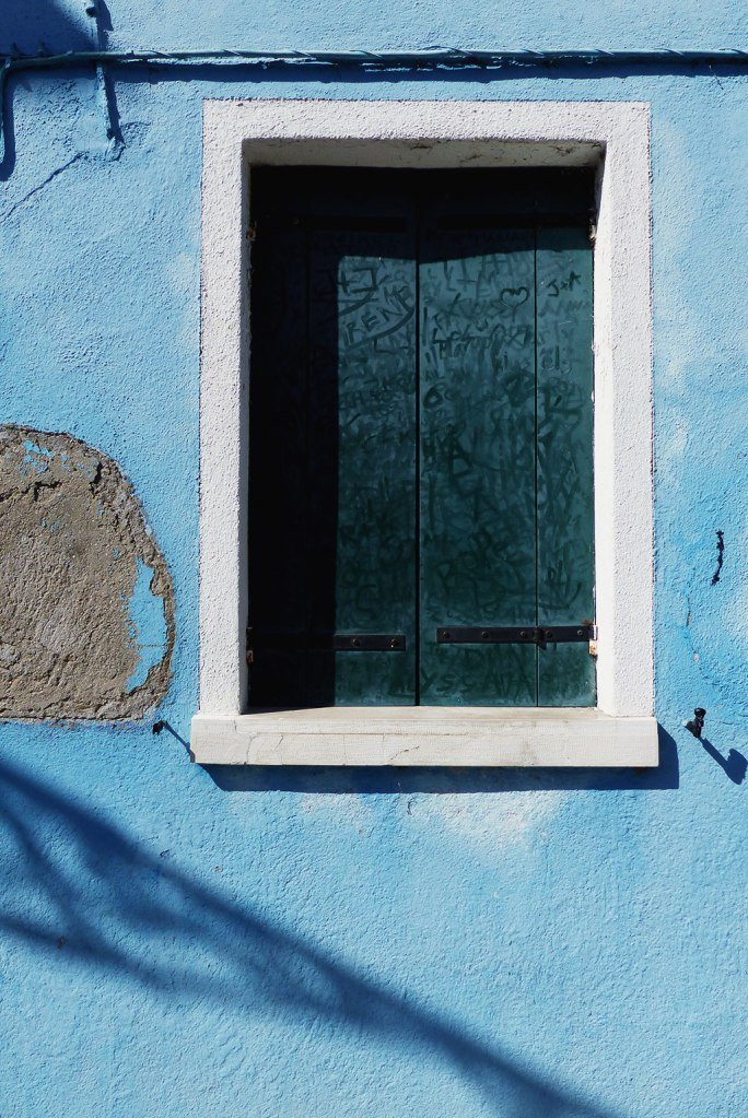 A window in Burano, Italy