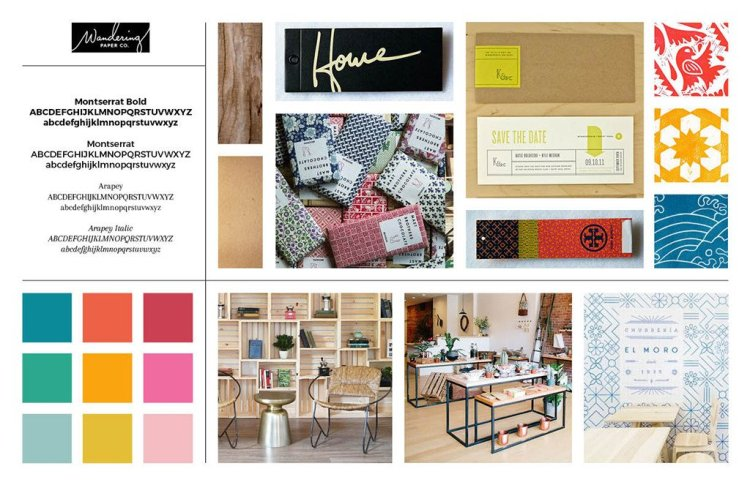 Branding Mood Board for small business
