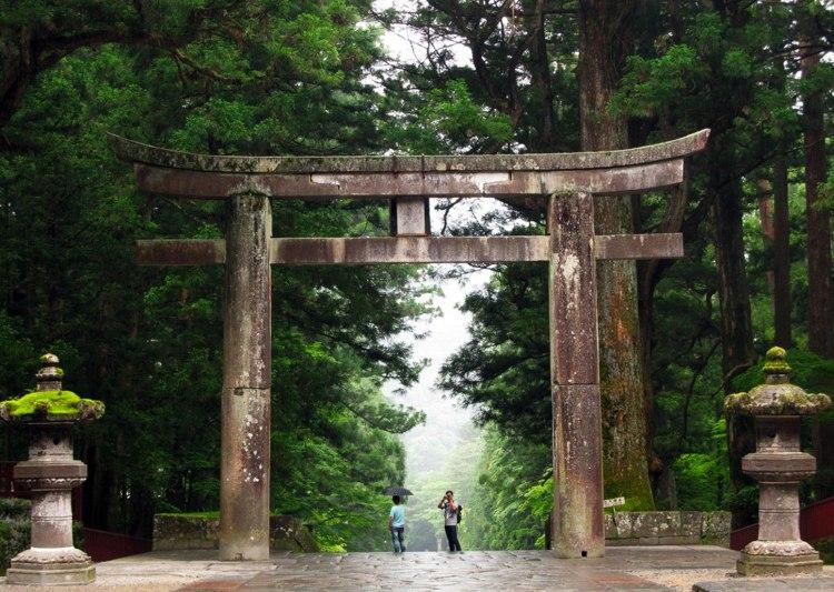 A Torii Gate in Nikko, Japan