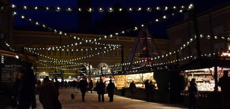 The Christkindlmarkt at night