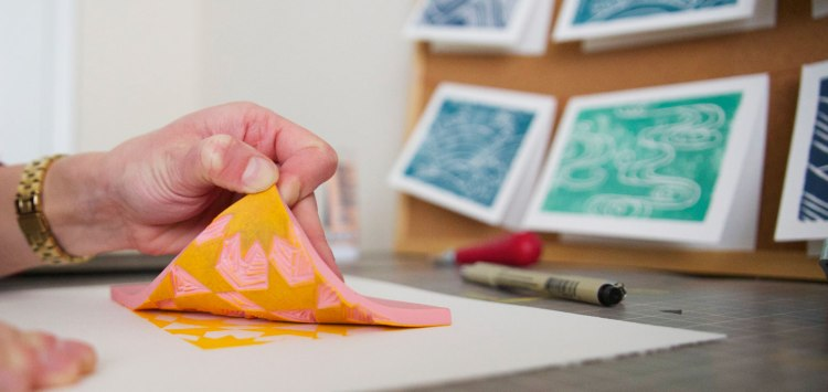 How to Make a Block Print with Speedball