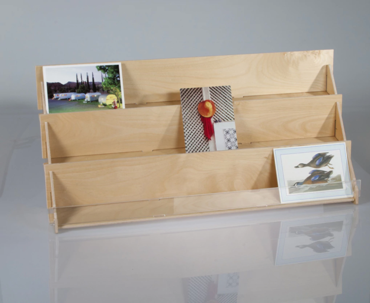 ClearDisplays Plywood Greeting Card Rack