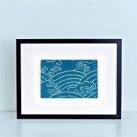 Japanese Water Series Tempest Block Print