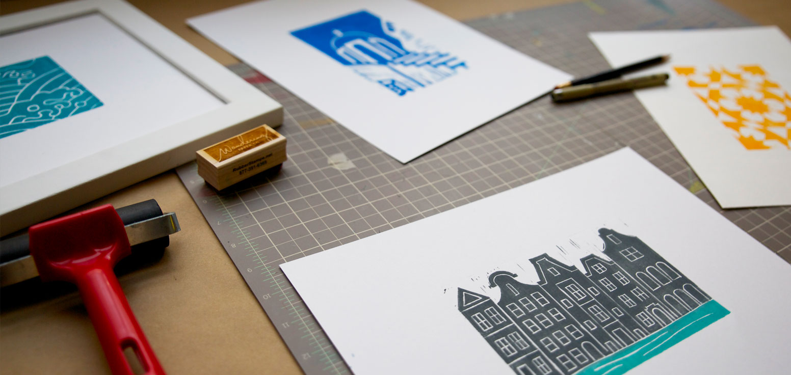 Global Block Prints by Wandering Paper Co.