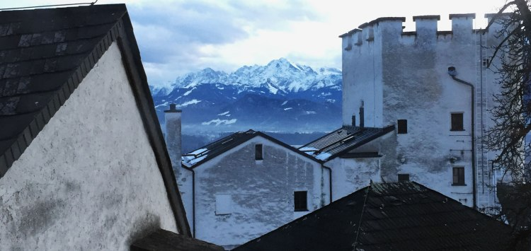 Views of the Alps from Fortress Hohensalzburg
